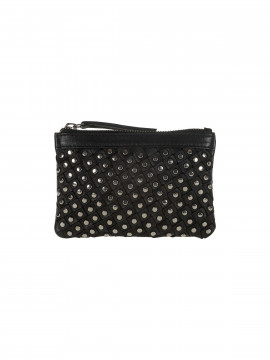 Depeche Party rivet purse - Silver
