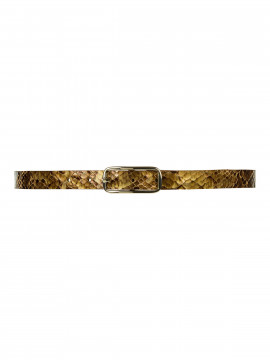 Depeche Nete shine narrow belt - Brown