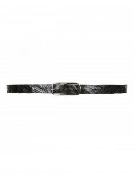 Depeche Nete shine narrow belt - Black