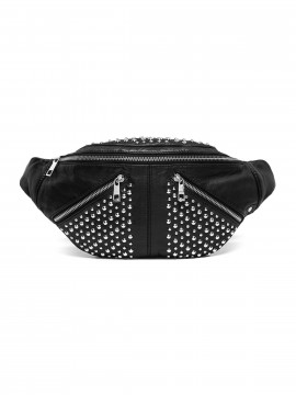 Depeche Elvira rivet bum bag - Silver