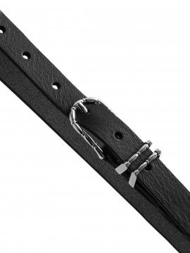 Depeche Fine narrow belt - Silver