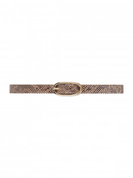 Depeche Snake narrow belt - Sand