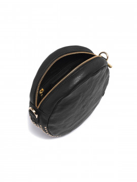 Depeche Depeche Siri round cross over bag - Black / Gold
