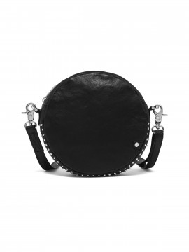 Depeche Depeche Siri round cross over bag - Black / Silver