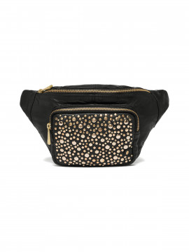 Depeche Nadia studs bum bag - Black / gold