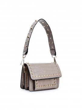 the Rubz Scarlett small croc studs bag - Cream