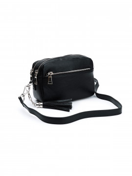 the Rubz Cindy medium crossbody - Plain black