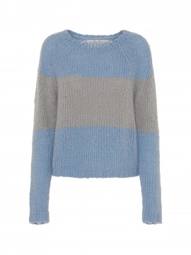 Costamani Porsche stripe knit - Blue/grey