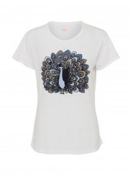 Costamani Peacock S/S Tee - White