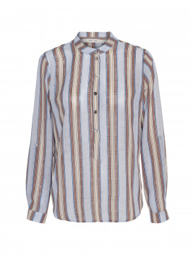 Costamani Lena stripe shirt - Blue/brown