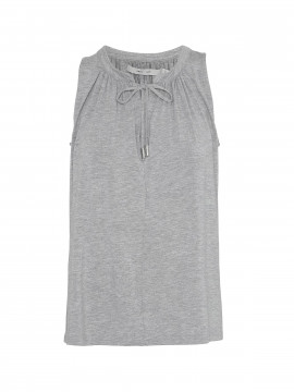 Costamani Vinni jersey top - Grey melange