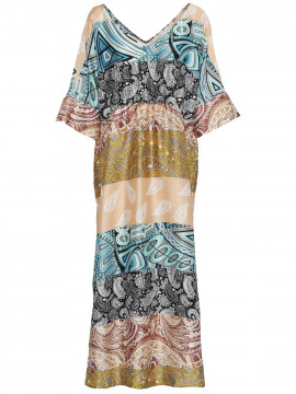 Costamani Asmine patchwork dress - Mixcolour
