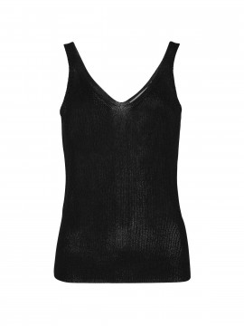Costamani Lin lurex top - Black