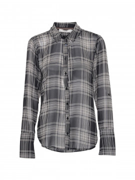 Costamani Linda check shirt - Black/white