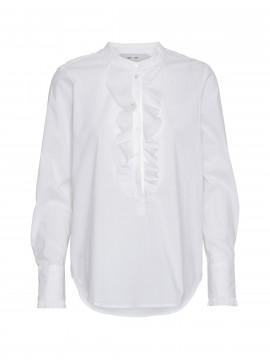 Costamani Sanne frill L/S top - White