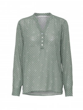 Costamani Lulu flower L/S top - Green