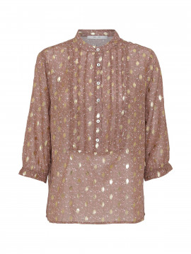 Costamani Frida Gold dot top - Dark powder
