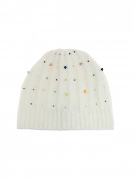 Costamani Beth hat w/beards - Offwhite