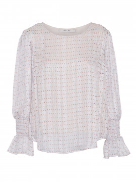 Costamani Holly dot L/S top - Nude