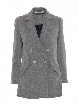 Costamani Kenton tweed blazer - Salt and pepper