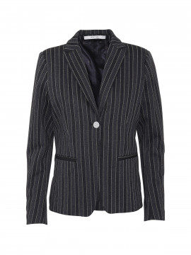 Costamani Kingo stripe blazer - Black/silver
