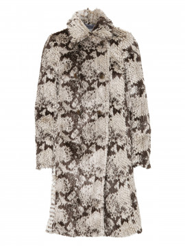 Costamani Lucy snake coat - White/grey