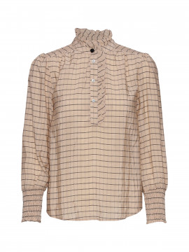 Costamani Tenna check shirt - Sand