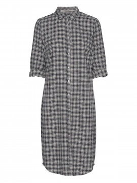 Costamani Charlotte check shirt / dress - Blue