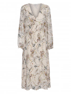 Costamani Robin dot/paisley dress - Offwhite