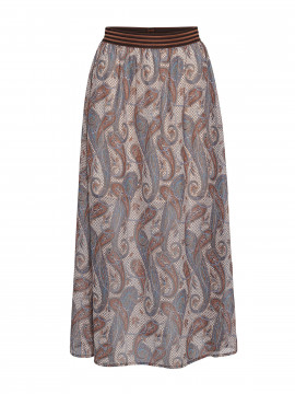 Costamani Inna paisley skirt - Blue/brown