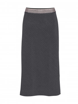 Costamani Dorin pine stripe skirt - Grey