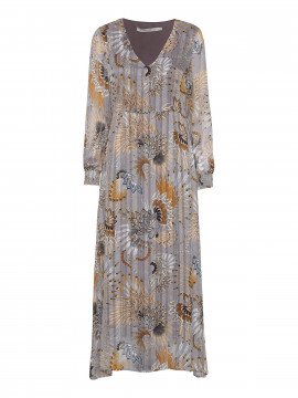 Costamani Annabel feather dress - Grey