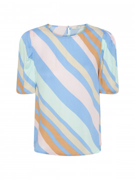 Costamani Happy stripe top - Multi col.