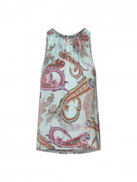 Costamani Spot paisley top - Turkis