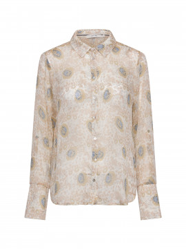 Costamani Linda flower shirt - Sand/blue