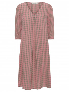 Costamani Duran check dress - Sand/rosa
