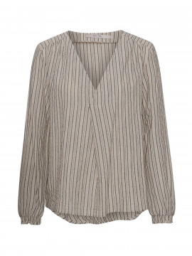 Costamani Oats stripe shirt - Sand