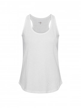 Costamani Logo racer top - White