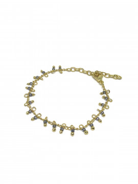 by Bram Gold bracelet - W/smoky pearl