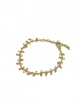 by Bram Gold bracelet - W/clear pearl