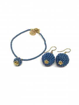 by Bram Set of jewelry - Blue jeans