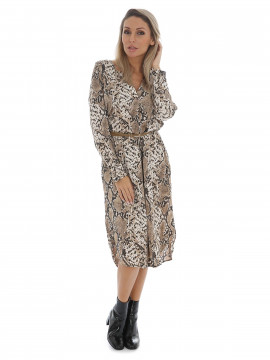 Chopin Jacklyn snake dress - Brown