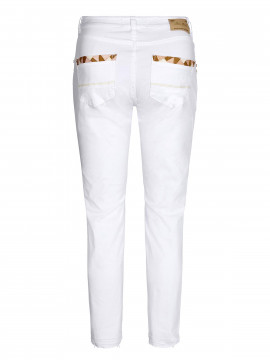 Mos Mosh Sumner decor 7/8 pant - White