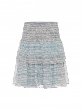 Costamani AC Scotty short stripe skirt - Aqua