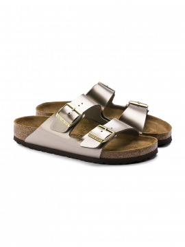 Birkenstock Arizona BF electric metallic Narrow sandal - Taupe