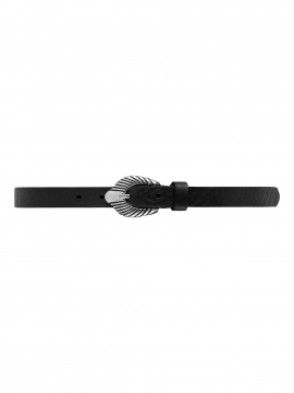 Depeche Noa western narrow belt - Black / silver