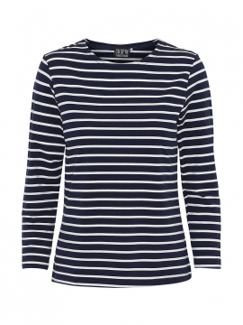 Chopin Kiki stripe tee 3/4 - Navy