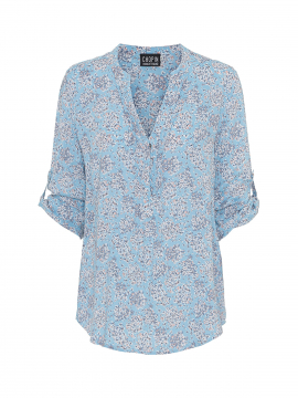 Chopin Katie small flower shirt - Light blue