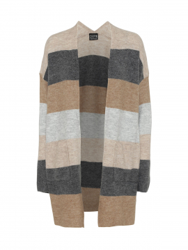 Chopin Freja stripe long cardigan - Grey
