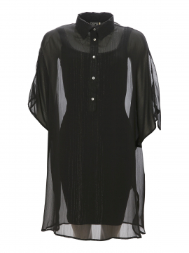Chopin Feroza Fine long shirt - Black